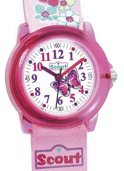 Scout Mädchenuhr Butterfly 305013 - PU-Band - 30 mm