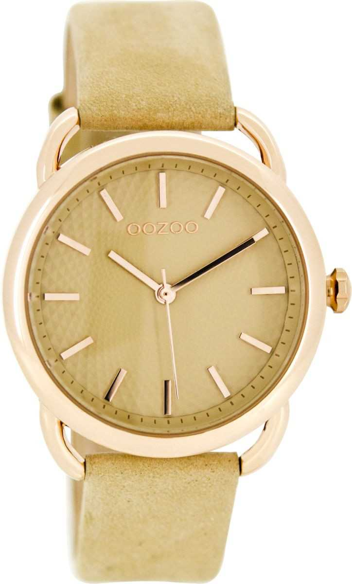 Oozoo Damenuhr C8717 - rose-hellbraun - Lederband - 38 mm