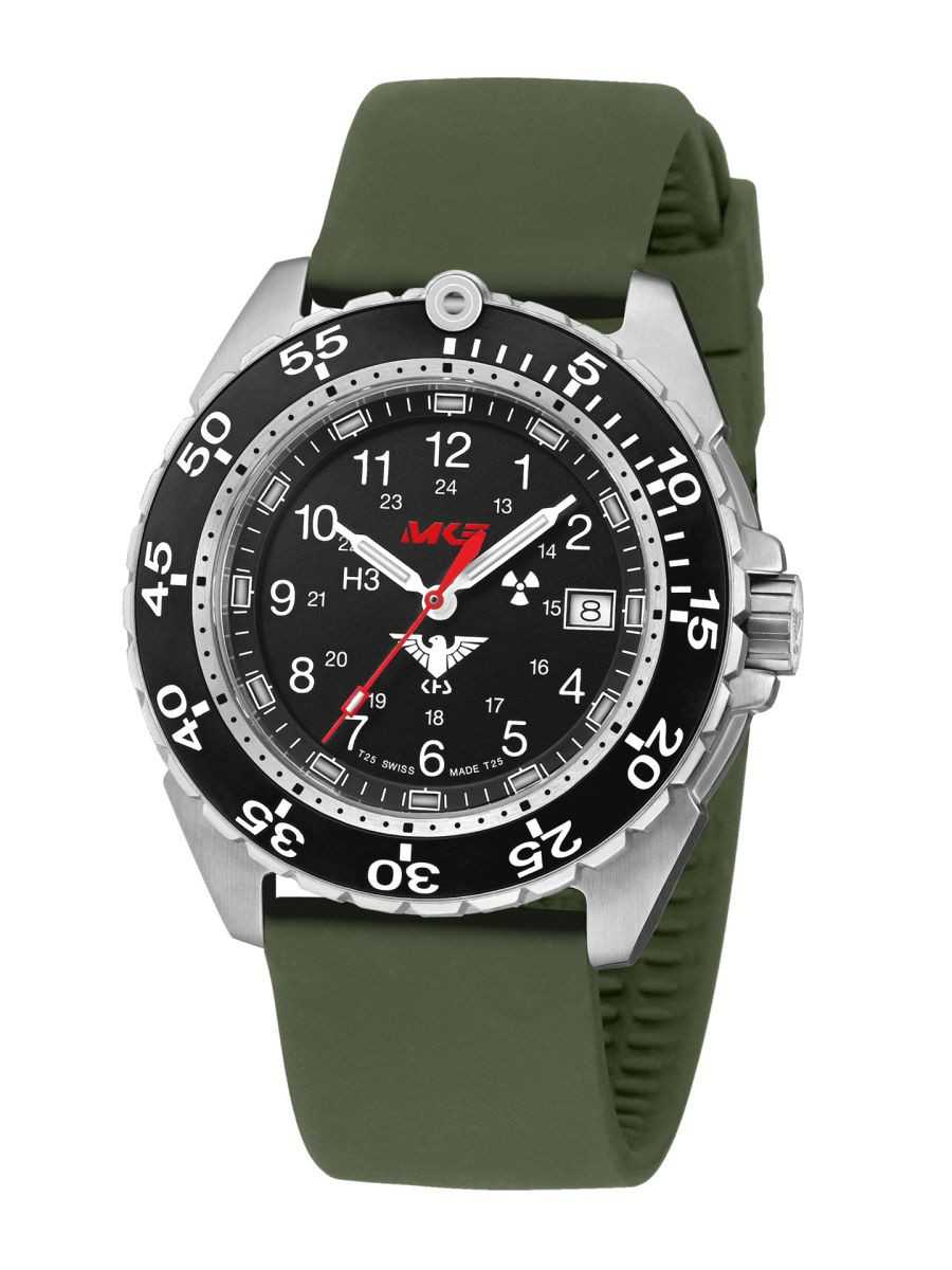 KHS Enforcer Steel Einsatzuhr KHS.ENFS.SO - Silikonband - 46 mm