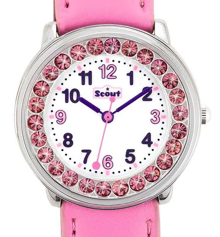 Scout 381003 The Darling Collection Mädchenuhr - rosa mit Kristallsteinen