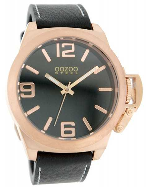 Oozoo Steel OS0106 XXL Damenuhr rose/schwarz - 45 mm