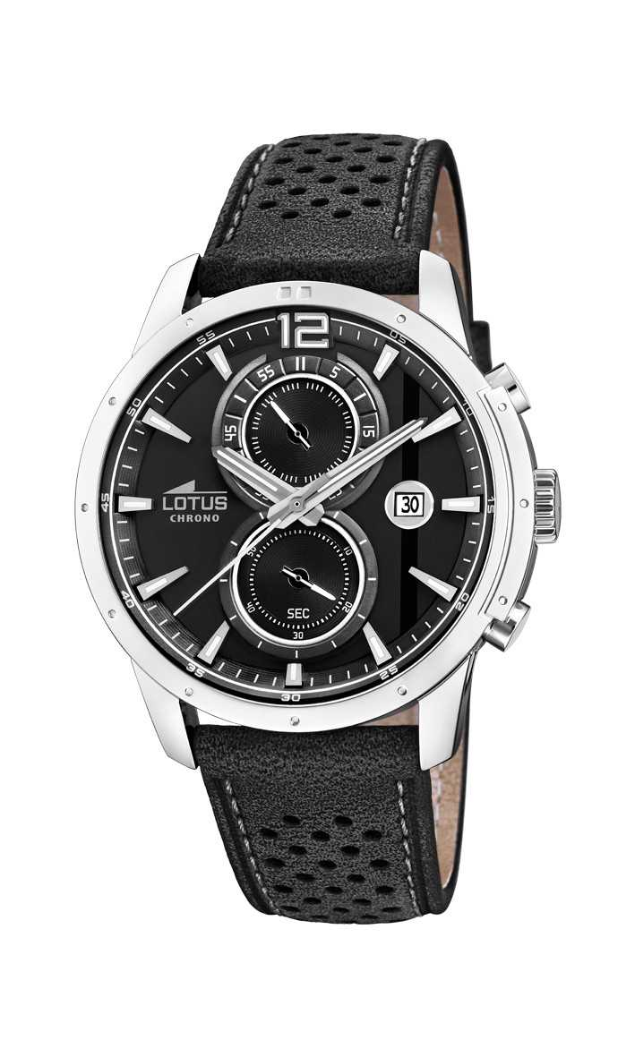 Lotus Herren Chronograph 18366-3 - Lederband - 44 mm