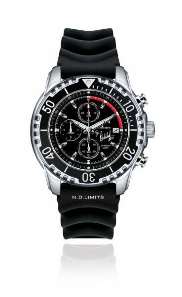 Chris Benz SURF&SAIL BD Signature Edition Chronograph CB-BD200-KBS Kautschukband 43 mm