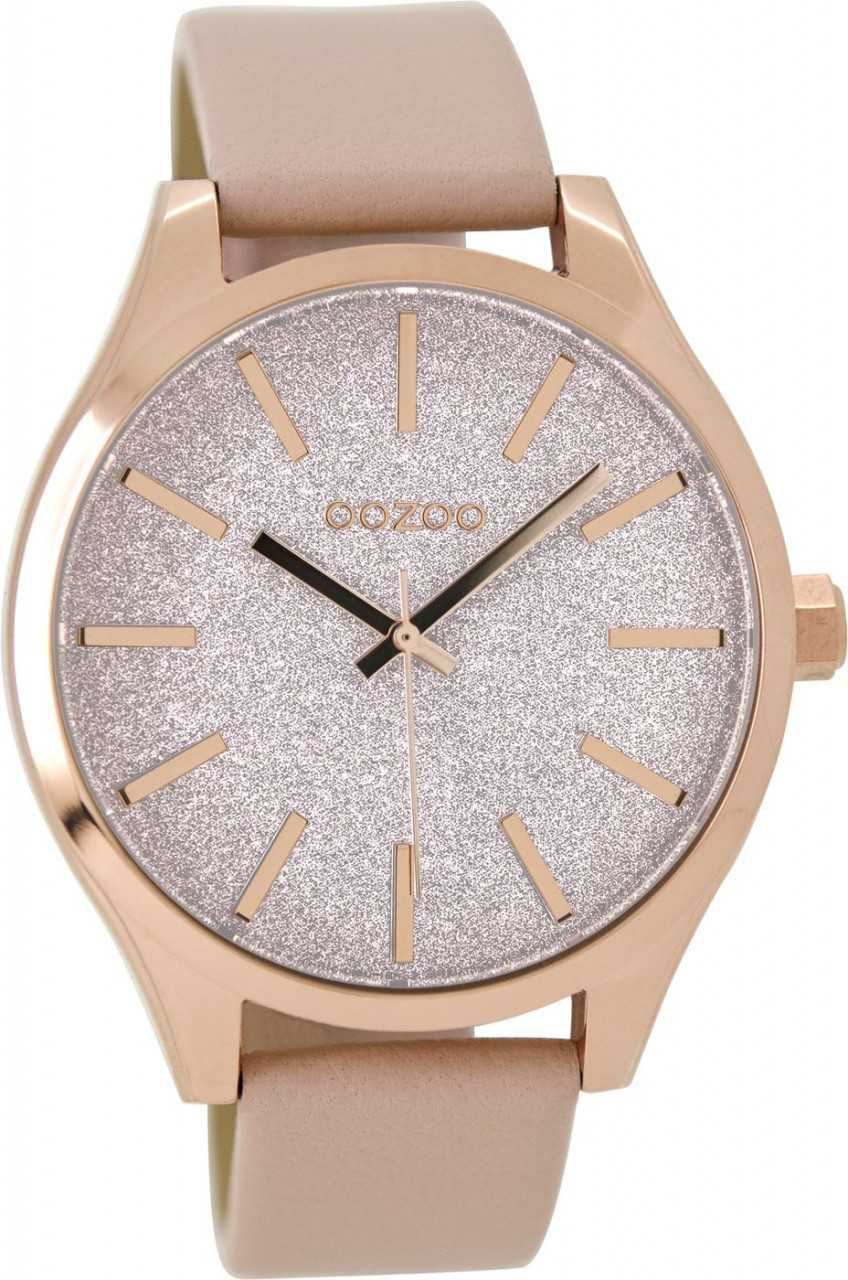 Oozoo Damenuhr C9121 - rose-rosa - Lederband - 42 mm