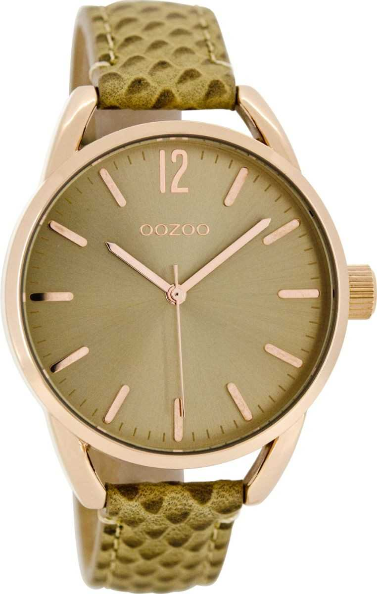 Oozoo Damenuhr C8336 - rose/sand - Lederband - 40 mm