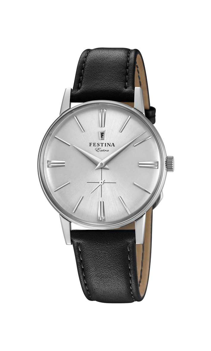 Festina Extra Herrenuhr F20248-1 - Lederband - 36 mm