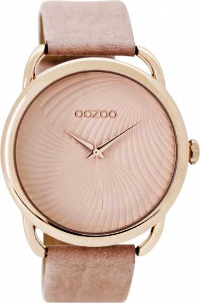 Oozoo Damenuhr C9161 - rose-rosagrau - Lederband - 42 mm