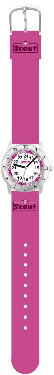 Scout Action Girls Mädchenuhr 378011 pink Textilband 30 mm