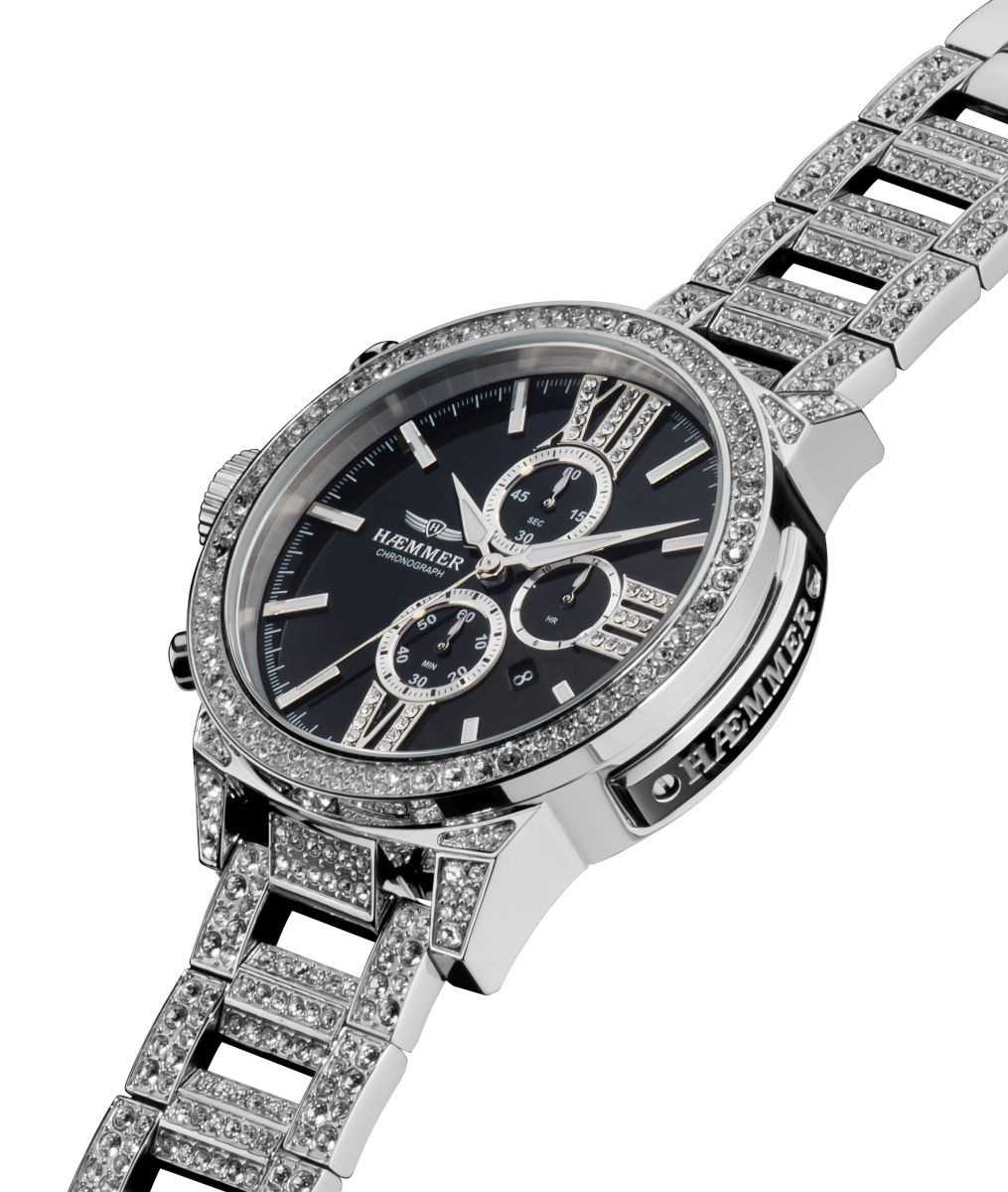 Haemmer Unique-99 Kollektion Damen Chronograph XXL L.Ed. U-100 - Edelstahlband - 45 mm