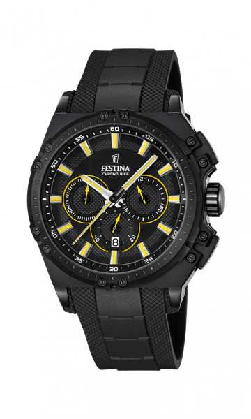 Festina Chrono Bike Herren Chronograph F16971-3 - PU-Band - 44 mm