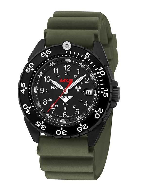 KHS Enforcer Black Steel Einsatzuhr KHS.ENFBS.DO - Kautschukband - 46 mm