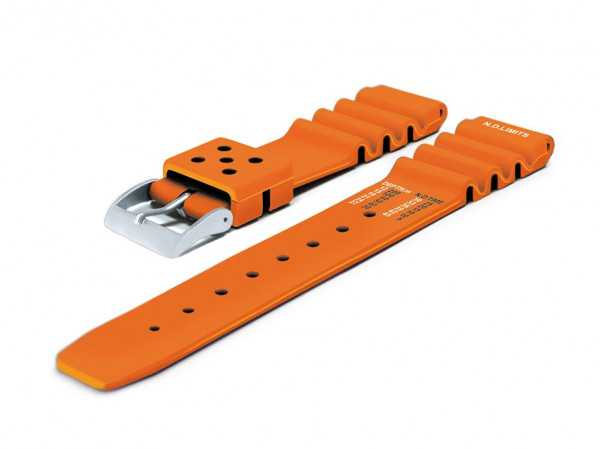Chris Benz Kautschukband DEEP CB-KB-DEEP500-O - Orange - 20 mm