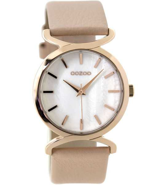 Oozoo Damenuhr C9526 - rose/softpink/weiss-perlmuttoptik - Lederband - 36 mm