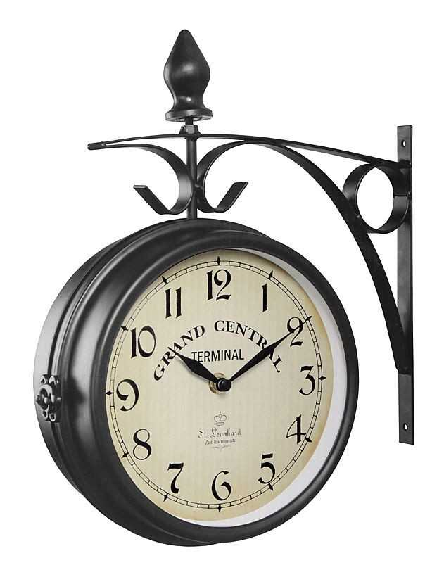 wanduhren st leonhard nostalgie wanduhr bahnhofsuhr g nstig kaufen markenuhren billiger. Black Bedroom Furniture Sets. Home Design Ideas