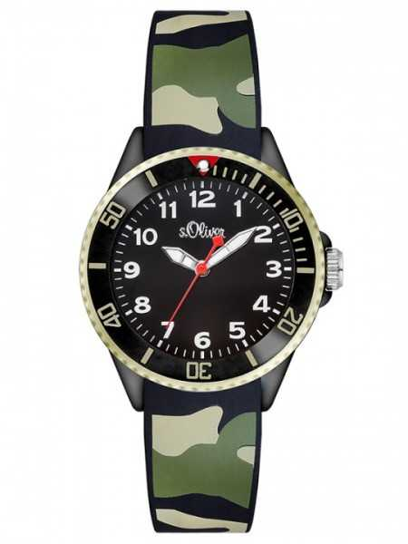 s.Oliver Kid´s Armbanduhr Camo SO-2998-PQ