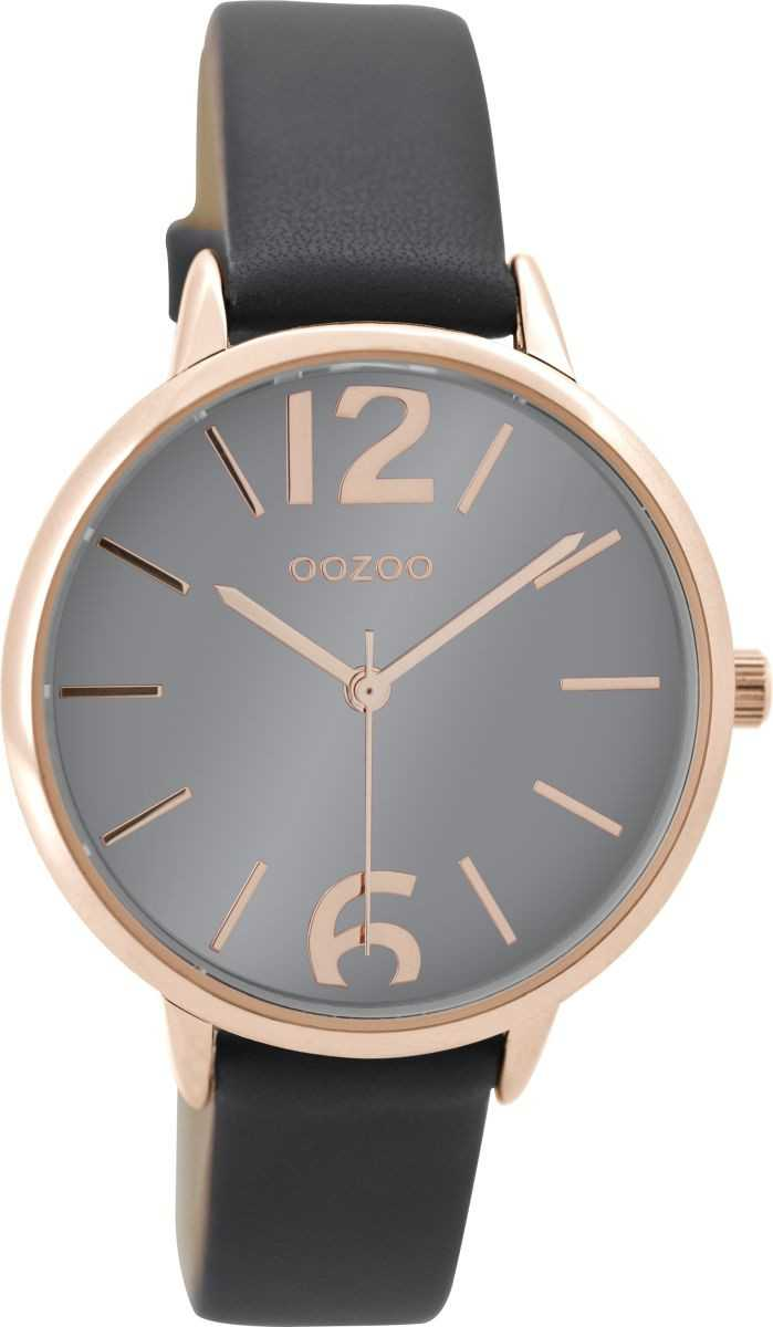 Oozoo Damenuhr C9228 - rose-elephantgrey - Lederband - 36 mm