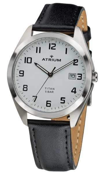 Atrium Titan Herrenuhr A14-10 - Lederband - 37 mm
