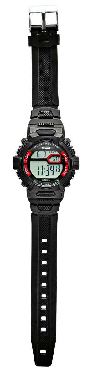 Scout The Digi Kinder Digitaluhr 308000 - schwarz - PU-Band - 40 mm