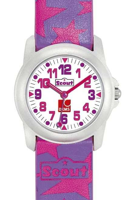 Scout DKMS Special Edition Mädchenuhr 307000 - PU-Armband - 28 mm