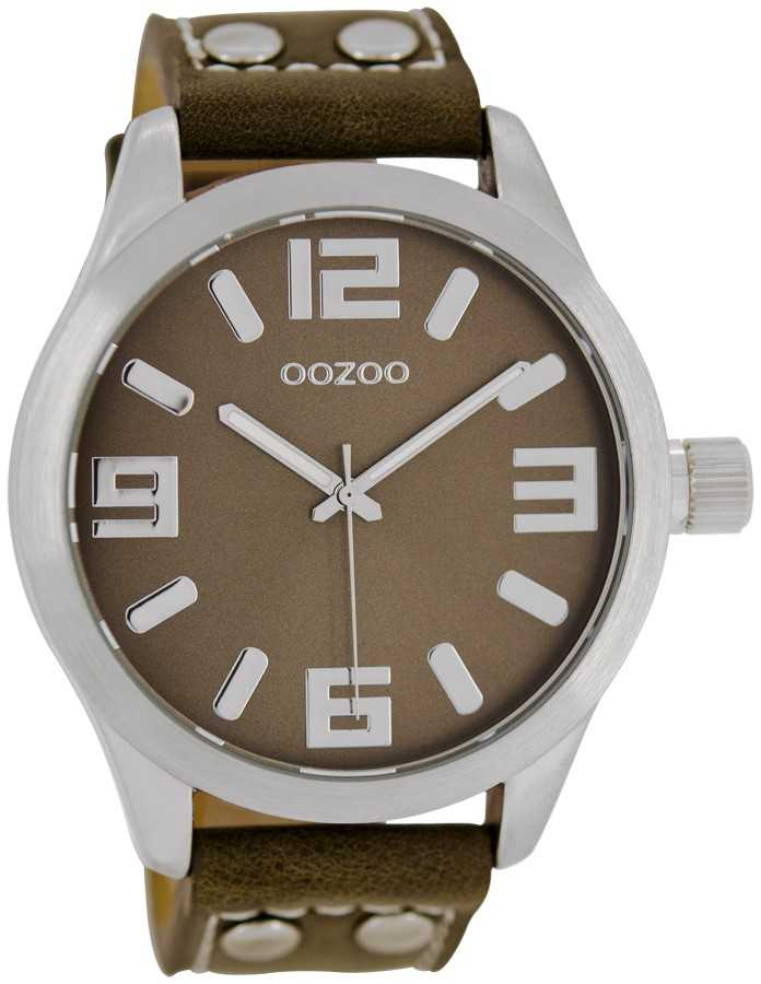 Oozoo Basic XXL Damenuhr C1064 taupe - 45 mm