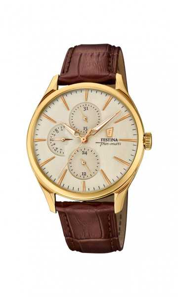 Festina Retrograde Herrenuhr F16993-1 - Lederband - 41 mm günstig