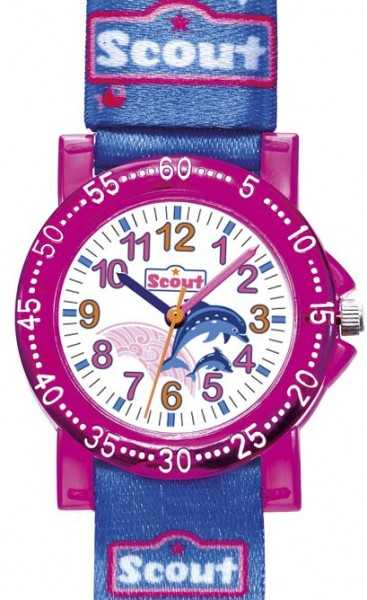 Scout The IT-Collection Mädchenuhr 375001 - Textilband - 30 mm