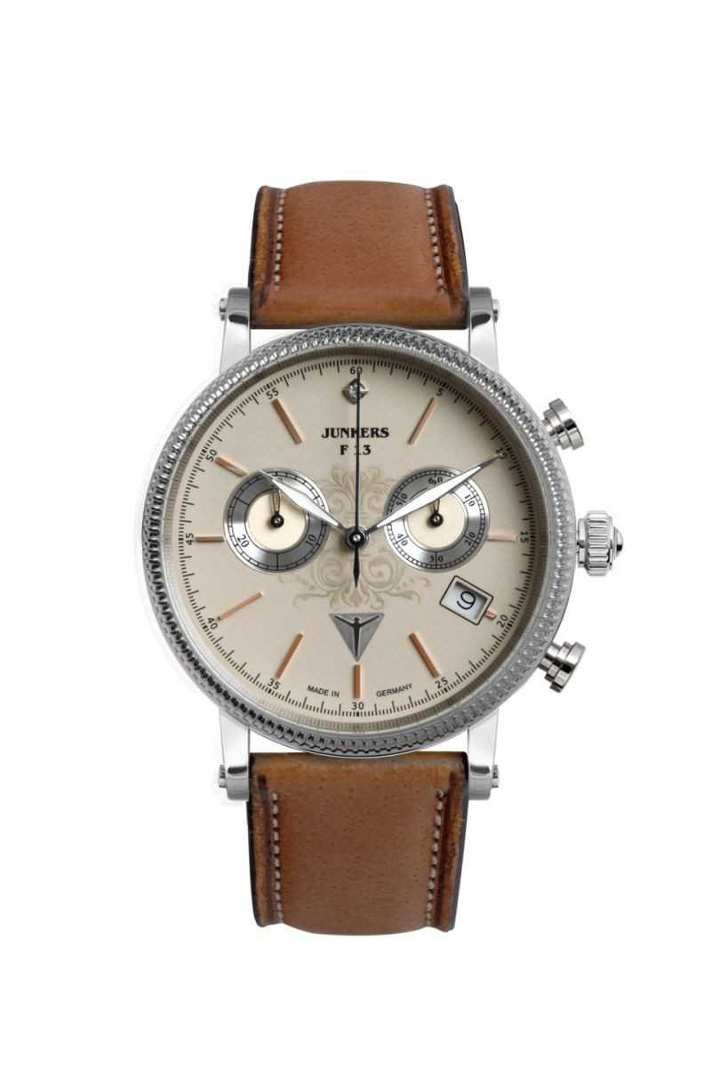 Junkers Expedition Südamerika Damen Chronograph 6581-5- Lederband - 36 mm