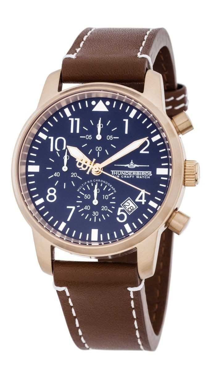 Thunderbirds Flieger MultiProChrono Chronograph TB1067-07 - Lederband - 40 mm
