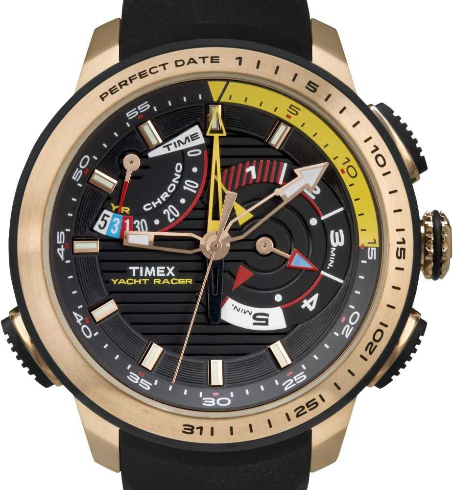 timex iq yacht racer herren chronograph tw2p44400 ebay. Black Bedroom Furniture Sets. Home Design Ideas
