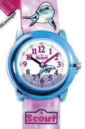 Scout Crystal Mädchenuhr 305014 - Delphin - 30 mm