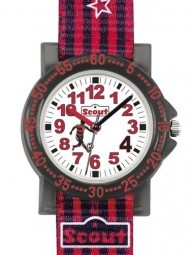 Scout The IT-Collection Jungenuhr 375006 mit Fußballer - Textilband - 30 mm