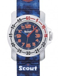 Scout Action Boys Jungenuhr 376035 - Textilband - 30 mm - Löwe