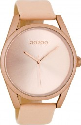 Oozoo Damenuhr C8077 - rose/puderrosa - 42 mm - Lederband
