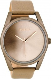 Oozoo Damenuhr C8079 - rose/taupe - 42 mm - Lederband