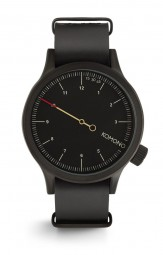 Komono Magnus The One Black Herrenuhr KOM-W1904 - Lederband - 46 mm