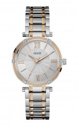 Guess Park Ave Damenuhr W0636L1 - Edelstahlband - bicolor - 37 mm