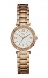 Guess Park Ave South Damenuhr W0767L3 - Edelstahlband - rose - 30 mm