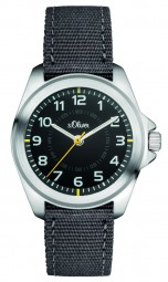 s.Oliver Kid´s Armbanduhr SO-3131-LQ - 32 mm - Textilband