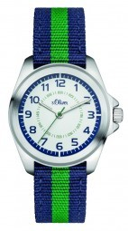 s.Oliver Kid´s Armbanduhr SO-3132-LQ - 32 mm - Textilband
